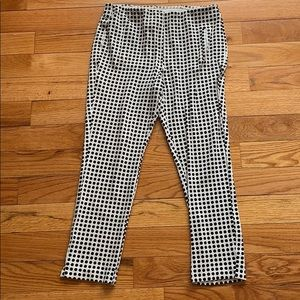 Chico's black/white polka dot pocket leggings sz 1
